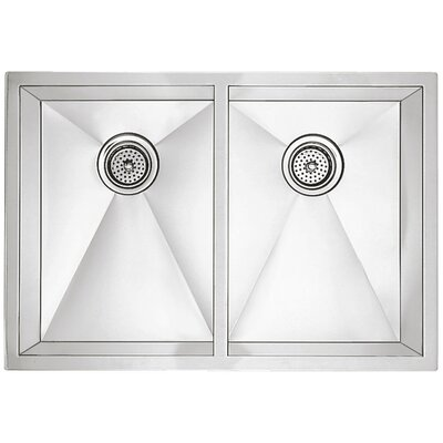 Precision 29 x 18 Equal Double Bowl Kitchen Sink