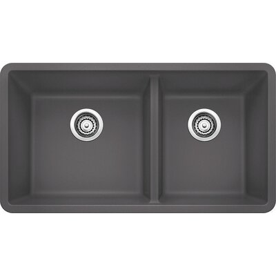 Precis 33 x 18 Undermount Kitchen Sink Finish: Metallic Grey