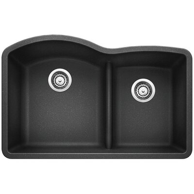 Diamond 32 x 20.88 Low Divide Undermount Kitchen Sink Finish: Anthracite