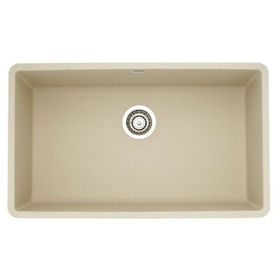 Precis 32 x 19 Super Single Bowl Kitchen Sink Finish: Biscotti