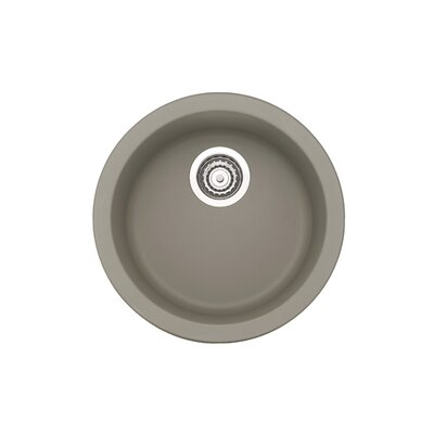 Rondo 17.69 x 17.69 Round Drop-In Bar Sink Finish: Truffle
