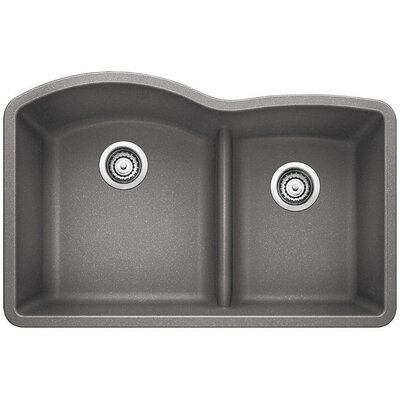 Diamond 32 x 20.88 Low Divide Undermount Kitchen Sink Finish: Metallic Gray