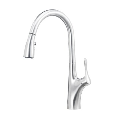 Napa Single Handle Deck Mounted Standard Kitchen Faucet with Dual Pull Down Spray Finish: Stainless Steel