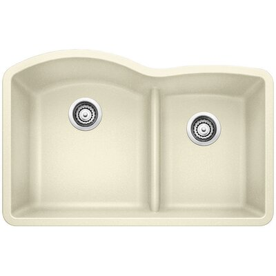 Diamond 32 x 20.88 Low Divide Undermount Kitchen Sink Finish: Biscuit