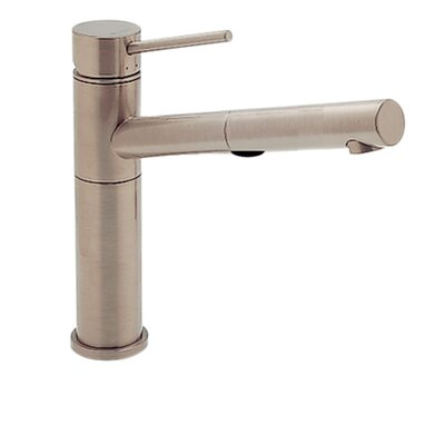 Alta Single Handle Deck Mounted Kitchen Faucet with Dual Pull Out Spray Finish: Satin Nickel