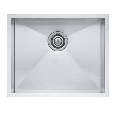 Quatrus 22 x 18 Single Bowl Kitchen Sink