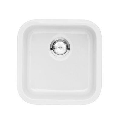 Cerana 17.25 x 17.25 Undermount Bar Sink Kitchen Sink Finish: White