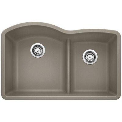 Diamond 32 x 20.88 Low Divide Undermount Kitchen Sink Finish: Truffle