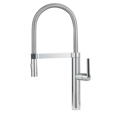 Culina Single Handle Deck Mounted Kitchen Faucet with Dual Spray Finish: Chrome