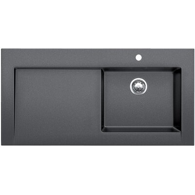 Modex 47.25 x 23.88 Above Counter Kitchen Sink Finish: Anthracite