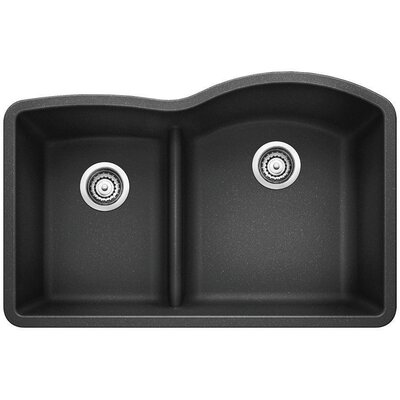 Diamond Reverse Bowl Kitchen Sink Finish: Anthracite