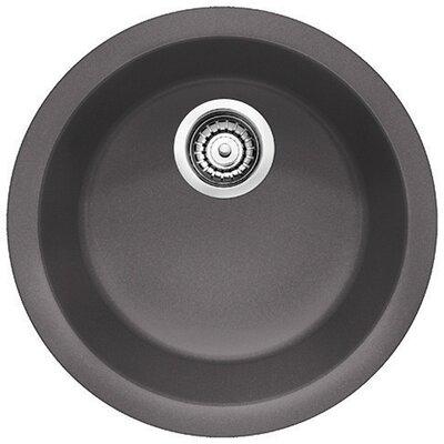 Rondo 17.69 x 17.69 Round Drop-In Bar Sink Finish: Cinder