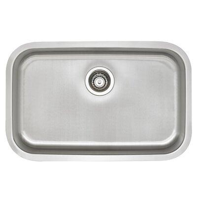 Stellar 28 x 18 ADA Single Bowl Kitchen Sink