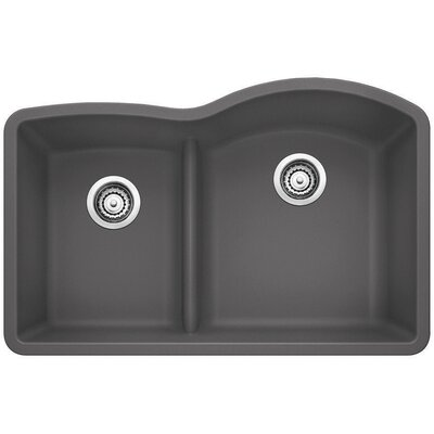 Diamond Reverse Bowl Kitchen Sink Finish: Cinder