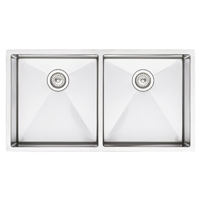 Precision 37 x 18 Equal Double Bowl Kitchen Sink