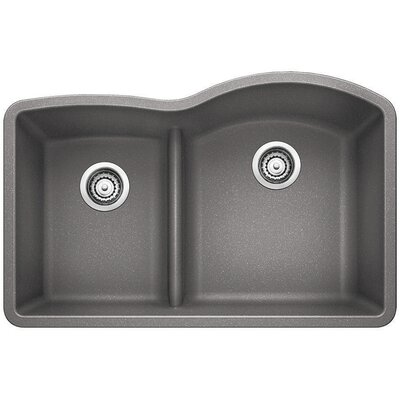 Diamond Reverse Bowl Kitchen Sink Finish: Metallic Gray