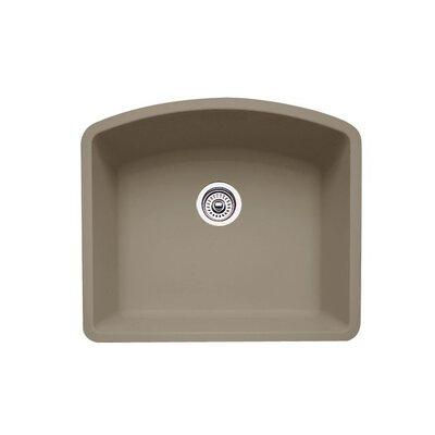 Diamond 24 x 20.81 Single Bowl Undermount Kitchen Sink Finish: Truffle