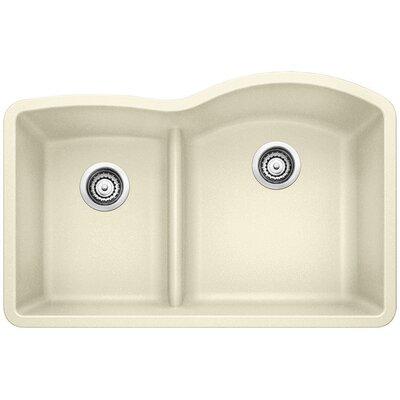 Diamond Reverse Bowl Kitchen Sink Finish: Biscuit