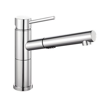 Alta Single Handle Deck Mounted Standard Kitchen Faucet with Dual Pull Out Spray Finish: Chrome