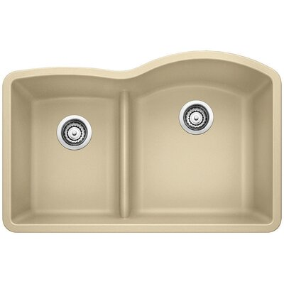 Diamond Reverse Bowl Kitchen Sink Finish: Biscotti