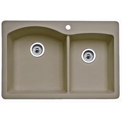 Diamond 33 x 22 Bowl Drop-In Kitchen Sink Finish: Truffle