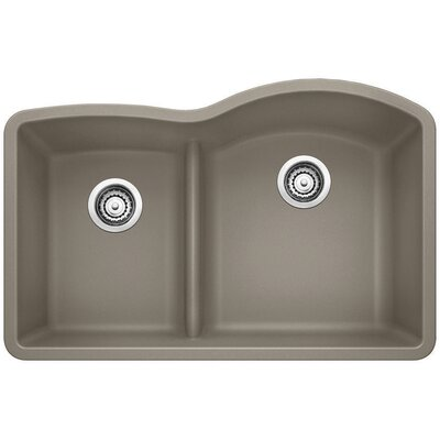 Diamond Reverse Bowl Kitchen Sink Finish: Truffle