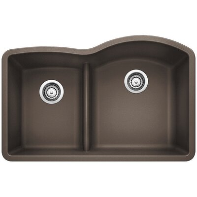 Diamond Reverse Bowl Kitchen Sink Finish: Cafe Brown
