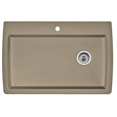 Diamond 33.5 x 22 Super Single Bowl Drop-In Kitchen Sink Finish: Truffle