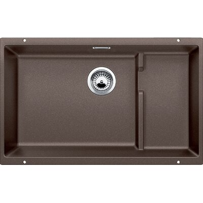 Precis 27.5 x 18.13 Cascade Single Kitchen Sink Finish: Cafe Brown