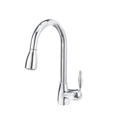 Grace Single Handle Deck Mounted Kitchen Standard Faucet with Dual Pull Down Spray Finish: Chrome