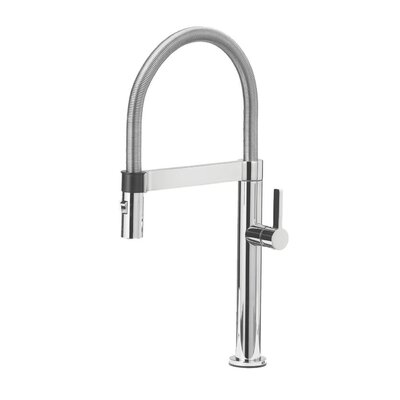 Culina Single Handle Deck Mounted Kitchen Faucet with Pull Down Finish: Chrome