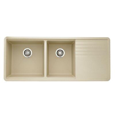 Precis 48 x 20 Multilevel Kitchen Sink Finish: Biscotti