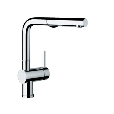 Linus Pull Out Single Handle Kitchen Faucet Finish: Chrome