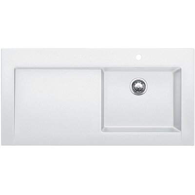Modex 47.25 x 23.88 Above Counter Kitchen Sink Finish: White