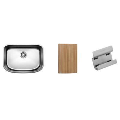 One 25 x 18 Preparation Single Kit Kitchen Sink