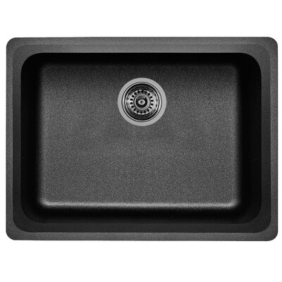 Vision 24 x 18 Single Kitchen Sink Finish: Anthracite