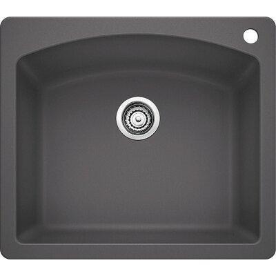 Diamond 25 x 22 Single Bowl Drop-In Kitchen Sink Finish: Cinder