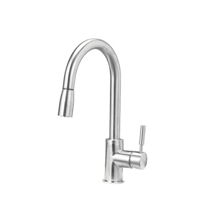 Sonama Single Handle Deck Mounted Standard Kitchen Faucet with Dual Pull Down Spray Finish: Stainless Steel