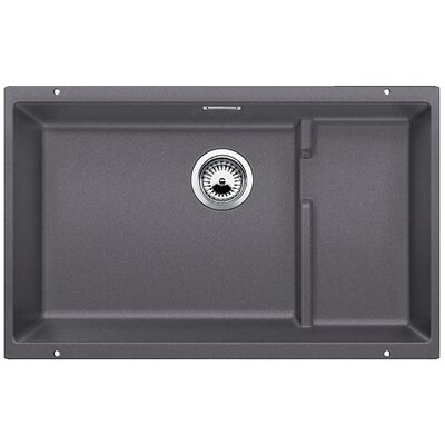 Precis 27.5 x 18.13 Cascade Single Kitchen Sink Finish: Cinder