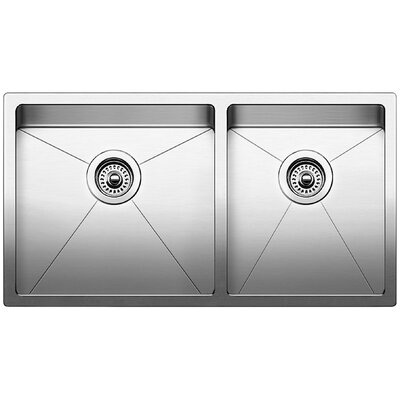 Quatrus 33 x 18 Bowl Undermount Kitchen Sink