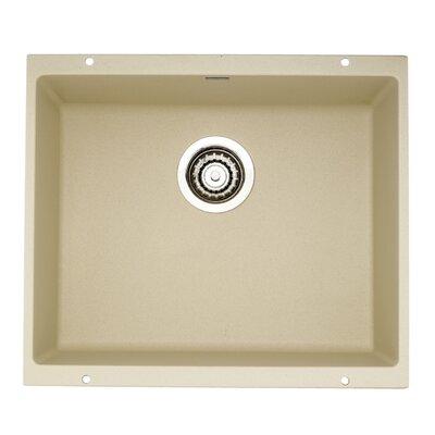 Precision 20.87 x 18 Large Single Bowl Kitchen Sink Finish: Biscotti