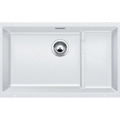 Precis 27.5 x 18.13 Cascade Single Kitchen Sink Finish: White
