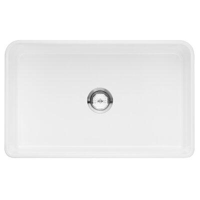 Cerana 30 x 19 1 Basin Kitchen Sink Finish: White