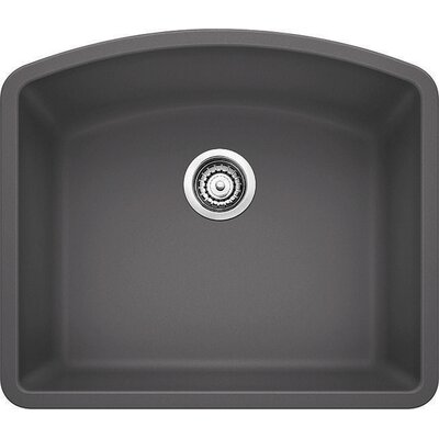 Diamond 24 x 20.81 Single Bowl Undermount Kitchen Sink Finish: Cinder