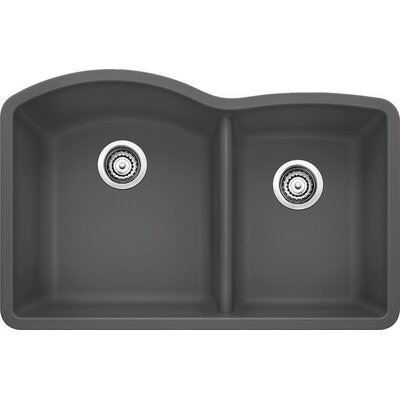 Diamond 32 x 19 Bowl Undermount Kitchen Sink Finish: Cinder