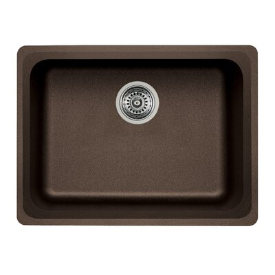 Vision 24 x 18 Single Kitchen Sink Finish: Cafe Brown