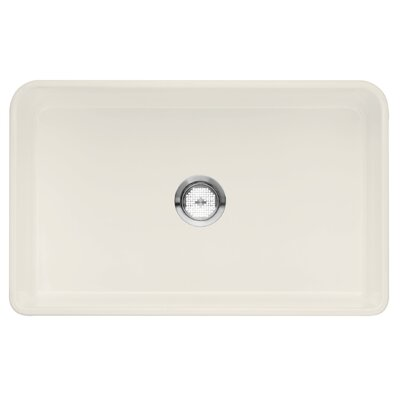 Cerana 30 x 19 1 Basin Kitchen Sink Finish: Biscuit