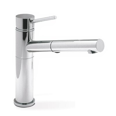 Alta Single Handle Deck Mounted Kitchen Faucet with Dual Pull Out Spray Finish: Chrome
