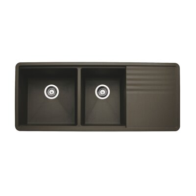 Precis 48 x 20 Multilevel Kitchen Sink Finish: CafT Brown