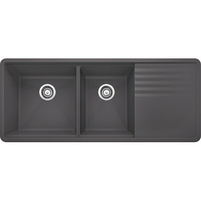 Precis 48 x 20 Multilevel Kitchen Sink Finish: Cinder